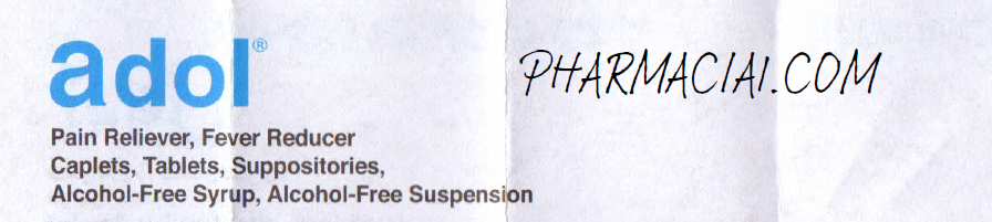 Adol Ped. Suppository : Patient Information Leaflet