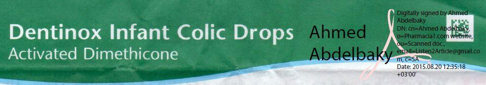 Dentinox oral ped drop : patient information leaflet