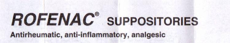 ROFENAC SUPPOSITORIES- Antirheumatic, anti-inflammatory, analgesic