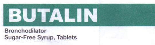 Butalin tablet & syrup : patient information leaflet