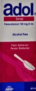 كل 5 مل من ادول شراب تحتوى على 120 ملجم باراسيتامول