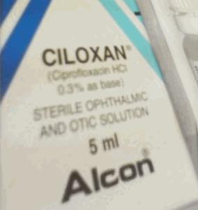 CILOXAN 3MG/ML EYE/EAR DROPS 5 ML