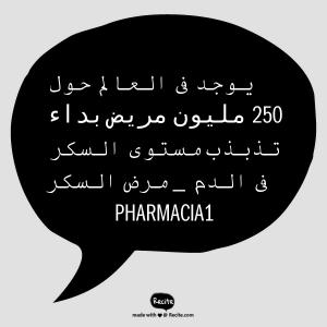 صورة تحتوى على نص، و النص المكتوب فى الصورة هو: 250 مليون مصاب بداء السكر حول العالم