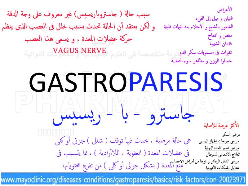 شلل المعدة GASTROPARESIS
