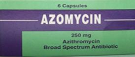 أزوميسين 250 ملجم كبسول AZOMYCIN