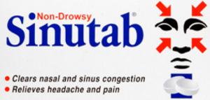 ســيـــنــوتــاب ، أقراص مزيلة لاحتقان الأنف و معالجة لحساسية الجيوب الانفية .