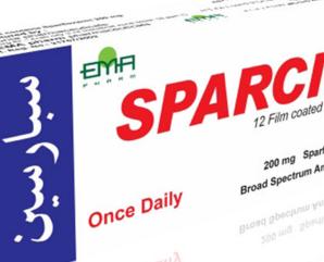 سبارسين 200 مجم.. مضاد حيوي واسع المجال