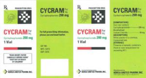 سيكرام (أقراص فموية، فيال التنقيط الوريدي) – سيكلوفوسفاميد لمكافحة الأورام و تثبيط المناعة