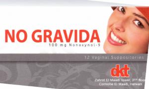 No Gravide Vaginal Suppository