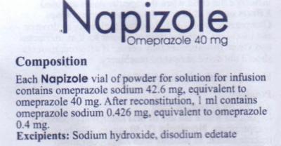 Napizole (Omeprazole): Indications, Side Effects, Warnings