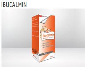 إبيوكالمين IBUCALMIN  شراب يستعمل فى الاطفال لتخفيف الحمى ( درجة الحرارة المرتفعة ) و الآلم البسيط إلى المتوسط لدى الاطفال بعد السنة الأولى من العمر .