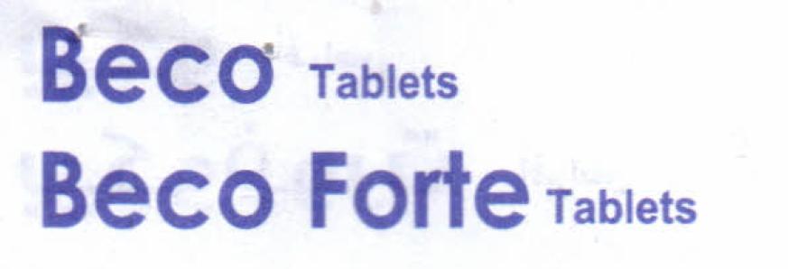 Beco Tablets  & Beco ForteTablets