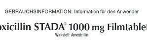 AMOXICILLIN STADA 1000 mg tablets