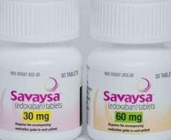 Savaysa is oral edoxaban
