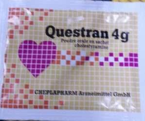 كويستران أكياس لخفض إنتاج الكوليستيرول