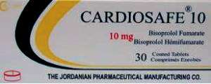 Cardiosafe- bisoprorlol by The Jordanian Pharmaceutical Manufacturing Co