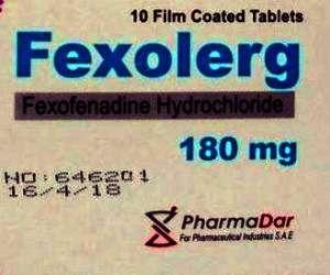 FEXOLERG 180 TABLETS- FEXOFENADINE