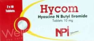 HYCOM TABLETS 10MG- HYOSCINE (SCOPOLAMINE) BUTYLBROMIDE BY NATIONAL PHARMACEUTICAL INDUSTRIES CO. SAOG (NPI), OMAN.