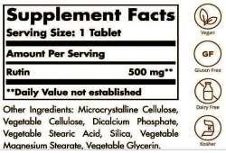 SOLGAR ® RUTIN 500MG NATURAL BIOFLAVONOID TABLETS- SUPPLEMENT FACTS