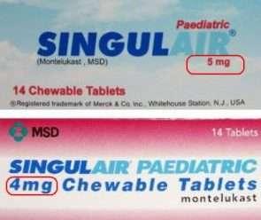 سنجيولير 4 أو 5 ملليجرام أقراص قابلة للمضغ للسيطرة على حساسية الصدر والأنف