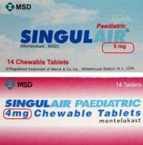 singulair 5mg chewable tablets
