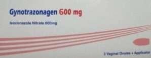 جينوترازوناجين تحاميل مهبلية مضادة للفطريات..600 ملليجرام ايِزوُكُونَازُول